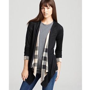 Auth.  Burberry Reversible Waterfall Cardigan